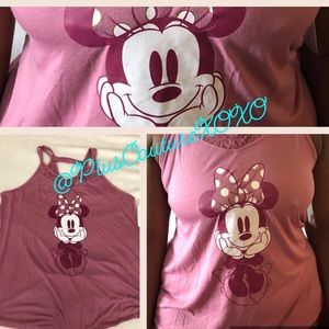 💞 Pink Minnie Mouse Disney Tank Top Plus Size